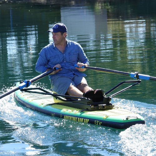 "Oar Board® SUP Fit On Top Rower, Stand Up Paddle Board, Adventure Row 13'4"" Inflatable SUP, Oar Board, Whitehall Rowing & Sail"