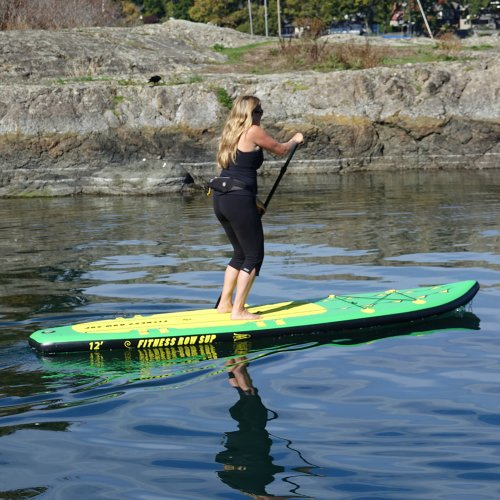 "Adventure Row 13' 4"" Inflatable SUP, Oar Board, Whitehall Rowing & Sail"