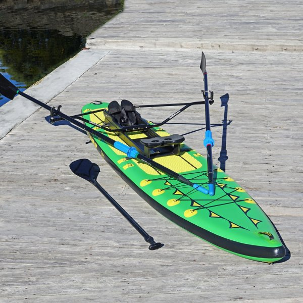 "Special Offer, Combo Package Deals, Adventure Row 13' 4"" Inflatable SUP, Oar Board, Whitehall Rowing & Sail"