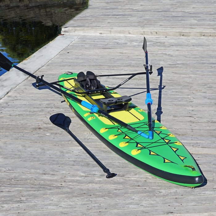 """Special Offer, Combo Package Deals, Adventure Row 13' 4"""" Inflatable SUP, Oar Board, Whitehall Rowing & Sail"""