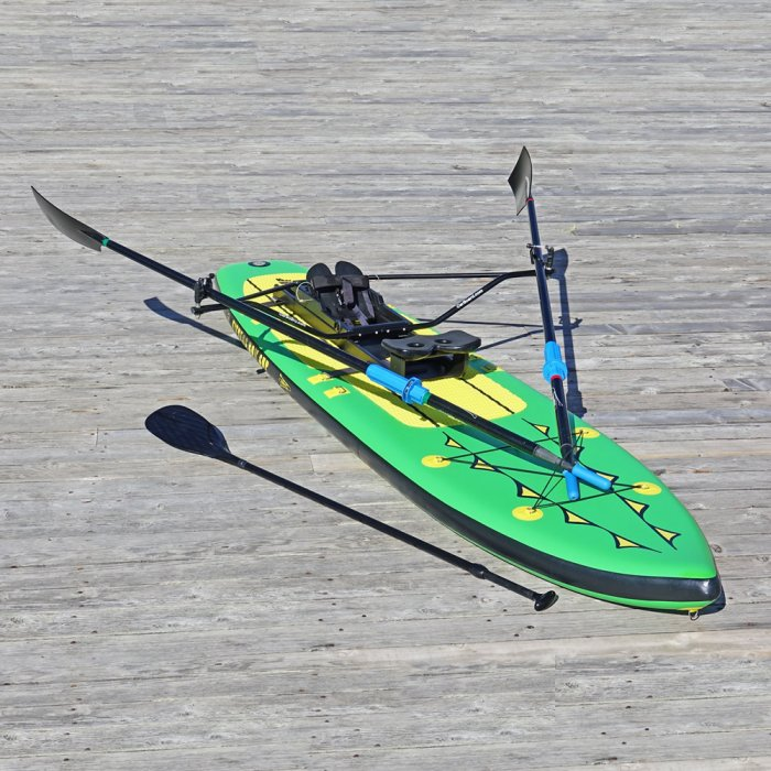 Special Offer, Combo Package Deals, Fitness Row 12' Inflatable SUP, Oar Board, Whitehall Rowing & Sail