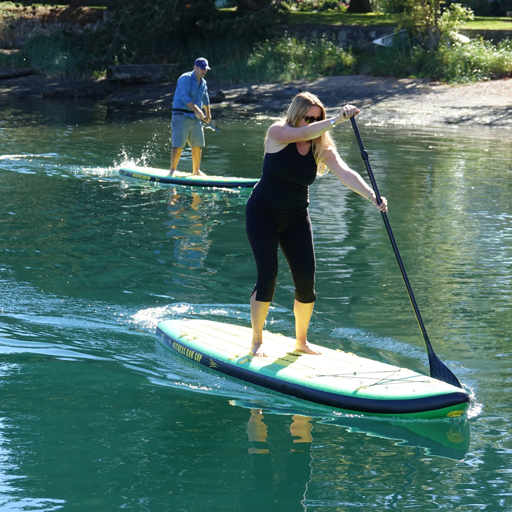Stand Up Paddle Board, Fitness Row 12' Inflatable SUP, Oar Board® SUP , Whitehall Rowing & Sail