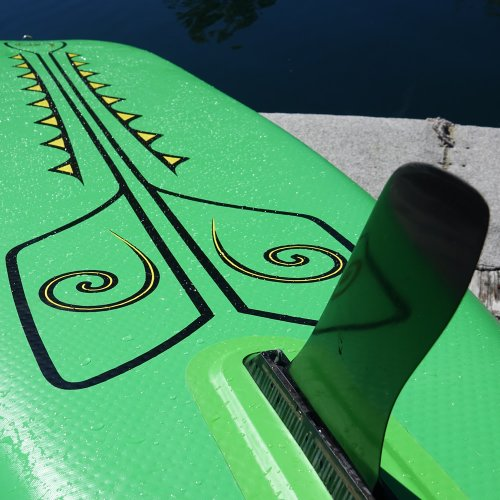 Bottom Detailing, Fitness Row 12' Inflatable SUP, Oar Board, Whitehall Rowing & Sail