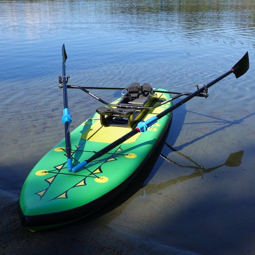 Fitness Row 12' Inflatable SUP, Rowing, Sculling, Oar Board, Whitehall Rowing & Sail
