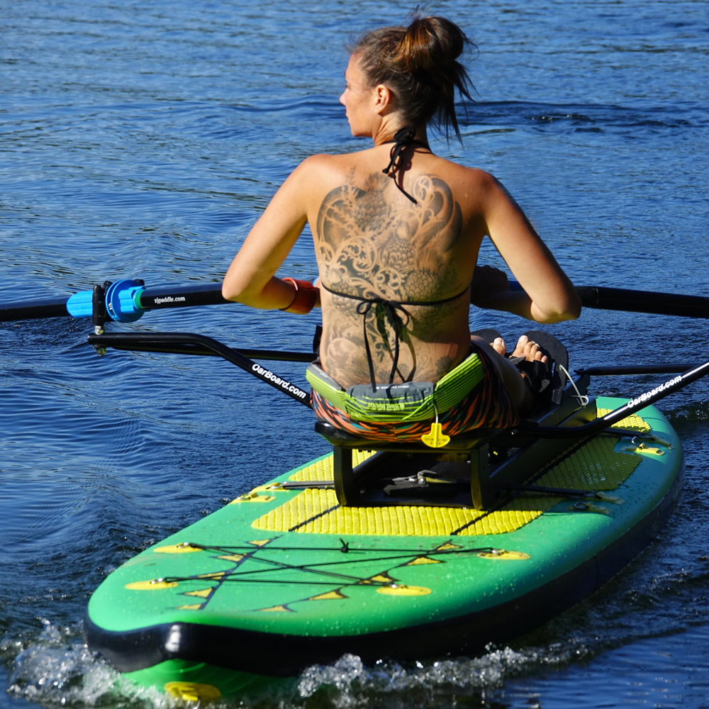 Oar Board® SUP Fit On Top Rower, Fitness Row 12' Inflatable SUP, Oar Board, Whitehall Rowing & Sail