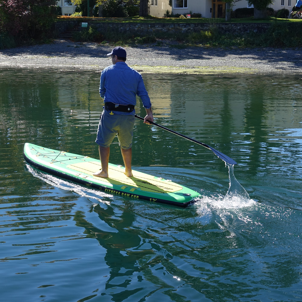 The Oar Board® Fitness Row 12' is great for stand up paddle boarding!