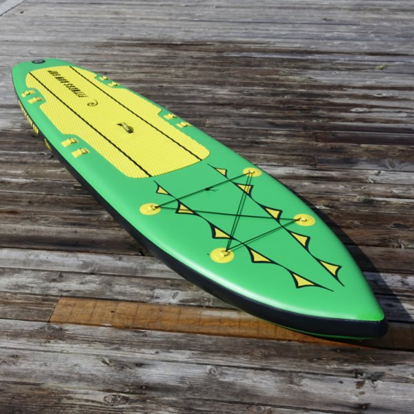 Fitness Row 12' Inflatable SUP, Oar Board, Whitehall Rowing & Sail