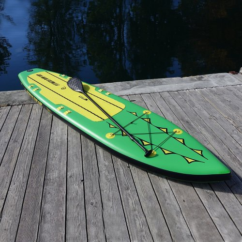 Fitness Row 12' Inflatable SUP, Stand Up Paddle Board, Oar Board, Whitehall Rowing & Sail