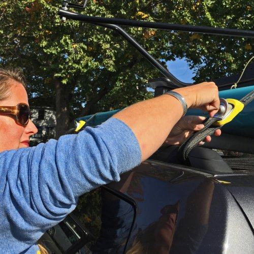 Kanulock Locking Tiedown Straps, Oar Board® SUP Fit On Top Rower, Whitehall Rowing & Sail