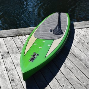 The ATX Navigator Solid Body SUP Green, Oar Board, Whitehall Rowing & Sail
