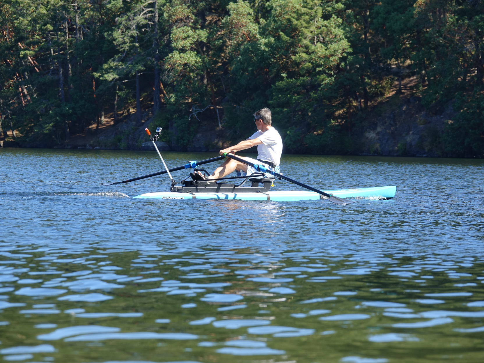 Lifestyle, Cottage Country Ontario, Standup Paddle Board, Oar Board Rower, Whitehall Rowing and Sail