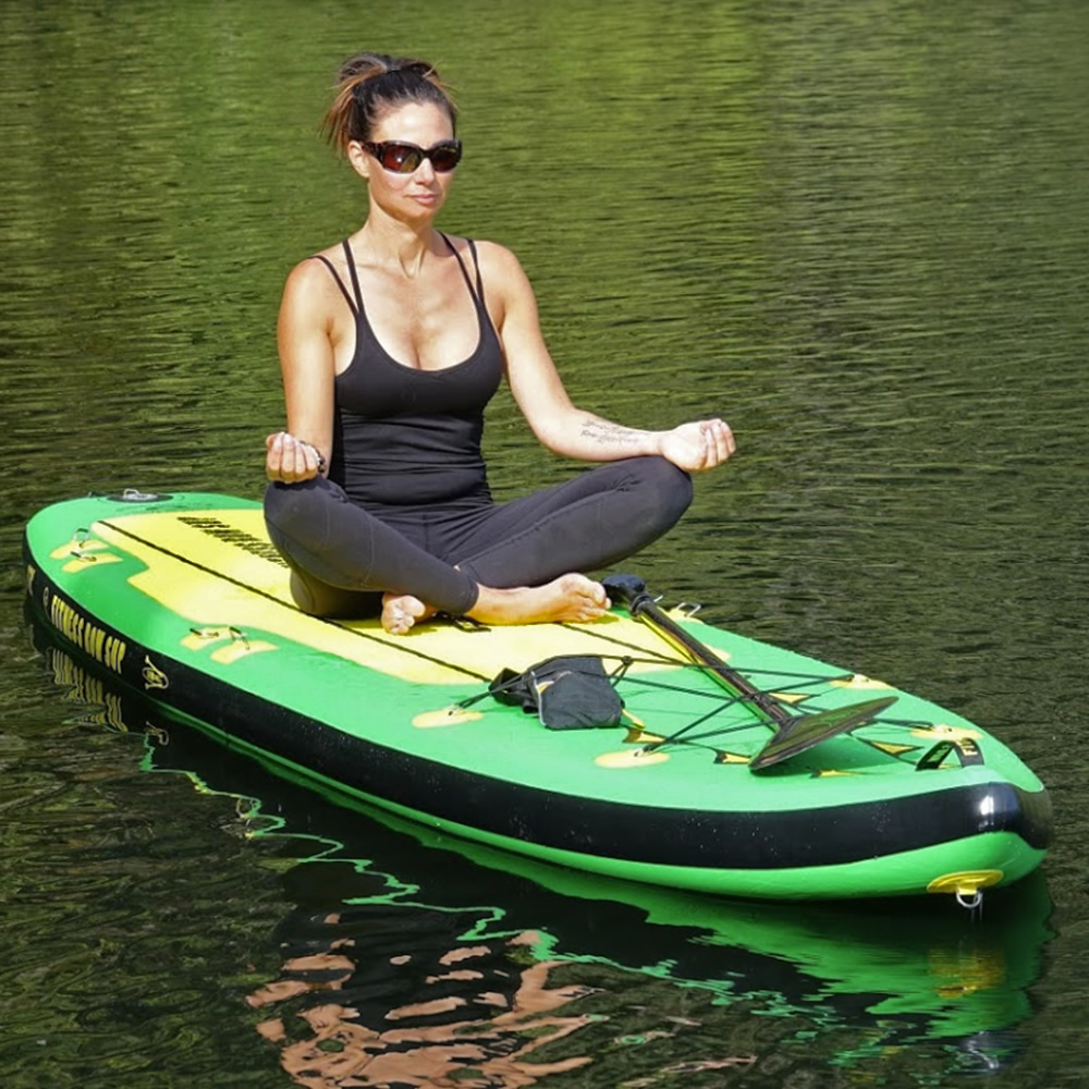 The Oar Board® Fitness Row 12' SUP is great for yoga!