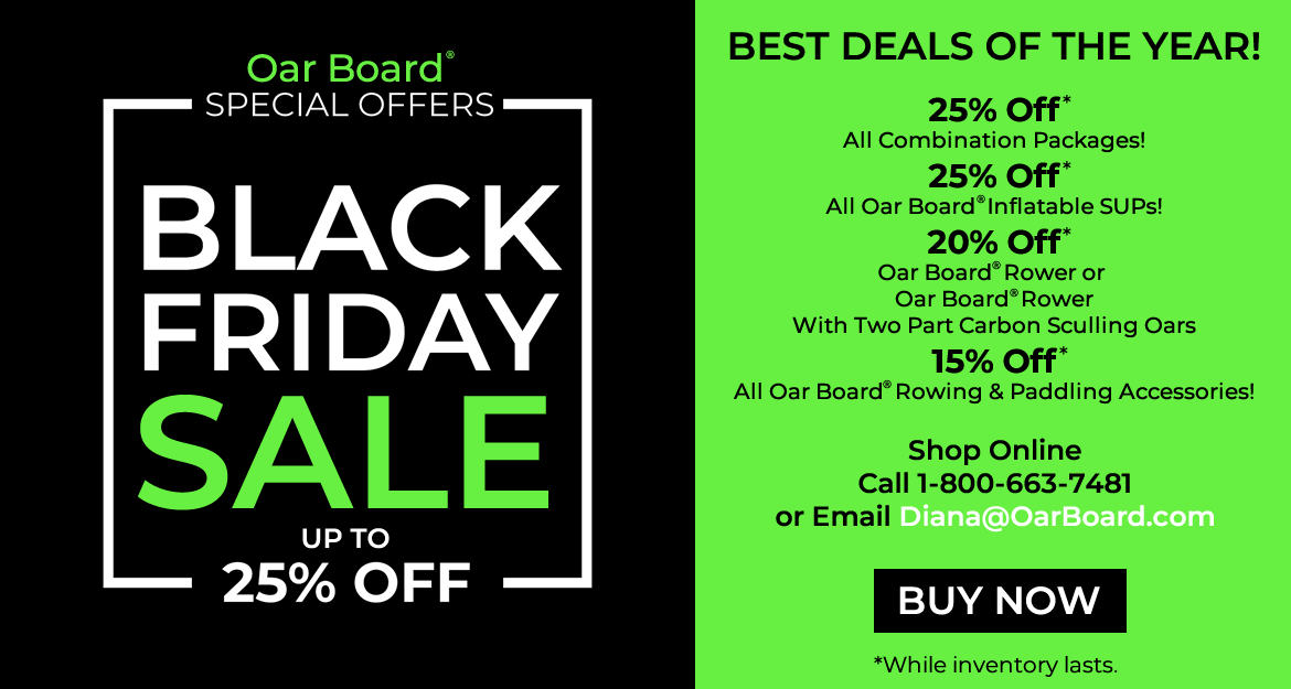 Black Friday Deals 2017, Oar Board Stand Up Paddle Board Rower, Whitehall Rowing & Sail