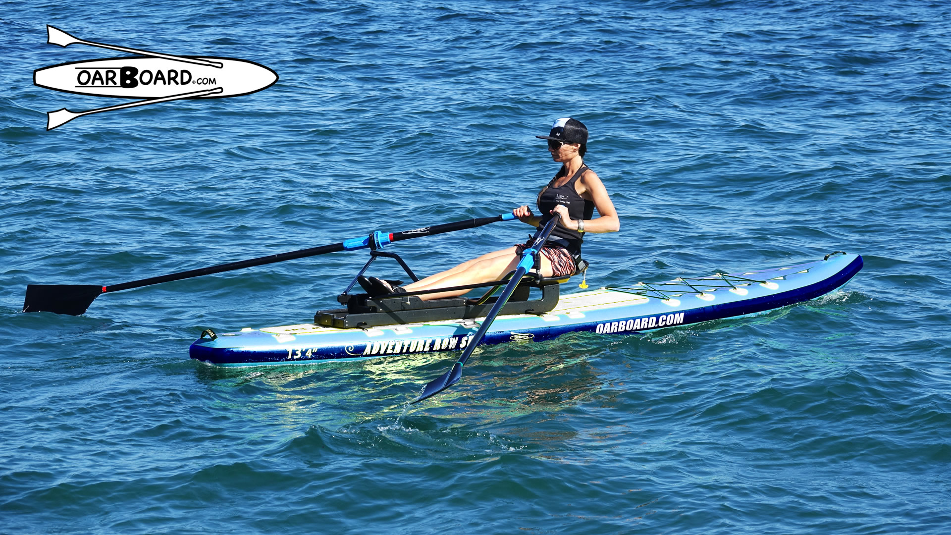 Oar Board Rower and SUP Combo in New Blue