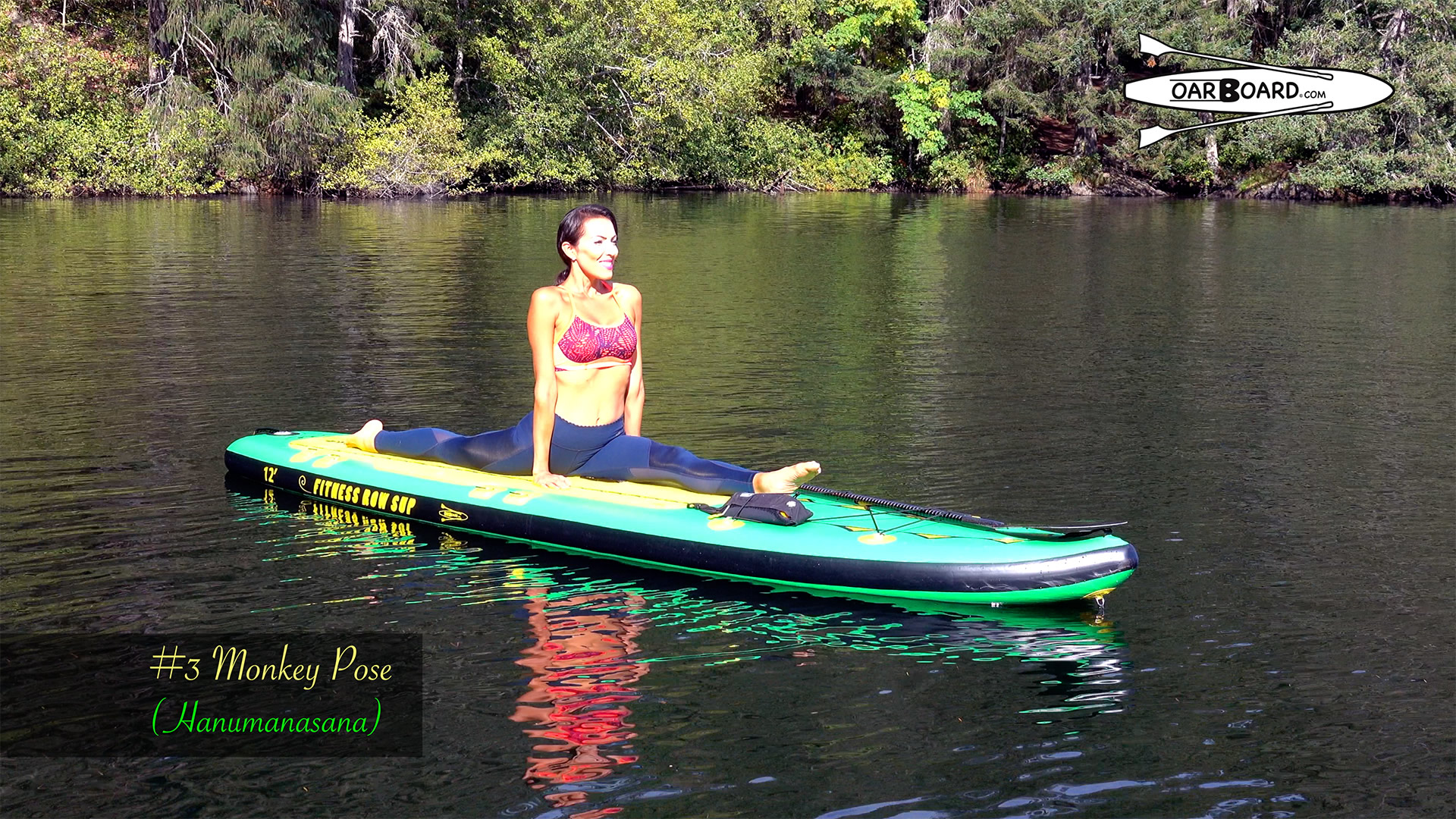 Oar-Board-Fit-12-Stand-Up-Paddle-Board-Yoga-3-Monkey-Pose