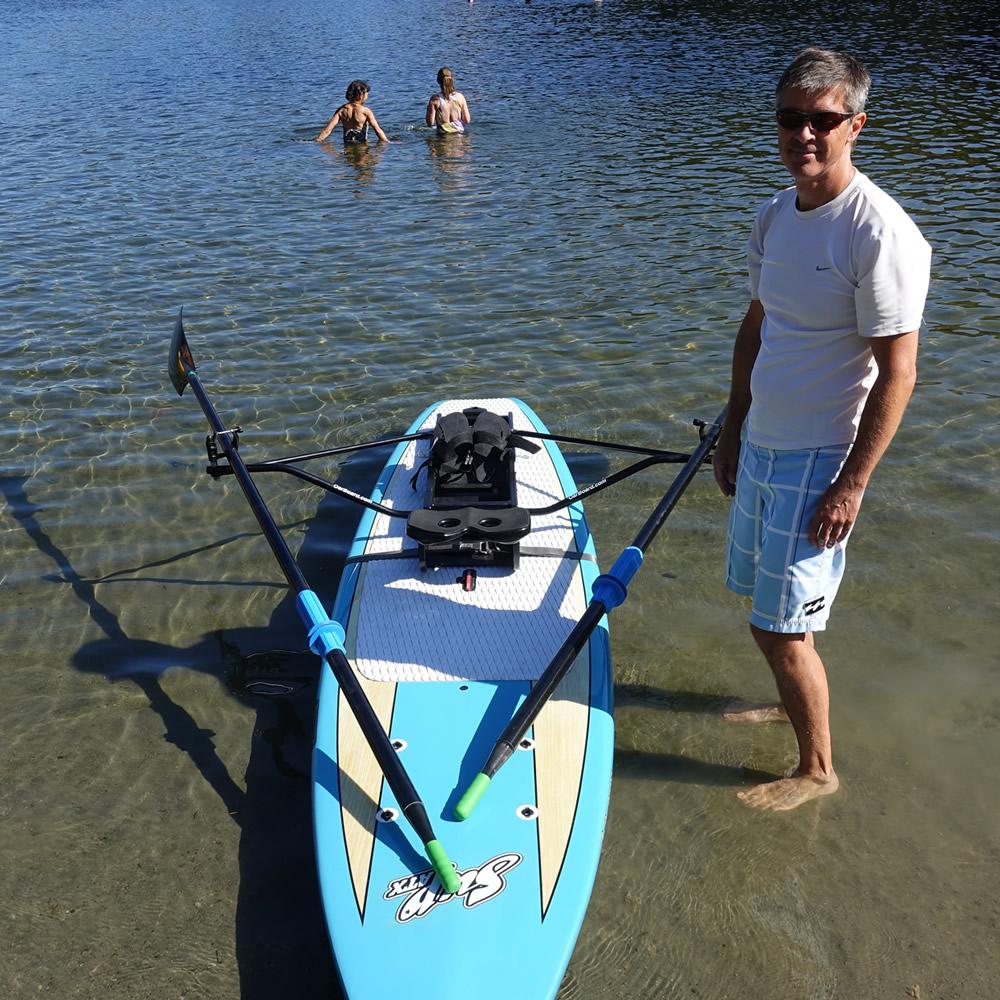 Oar Board® Fit On Top Rower