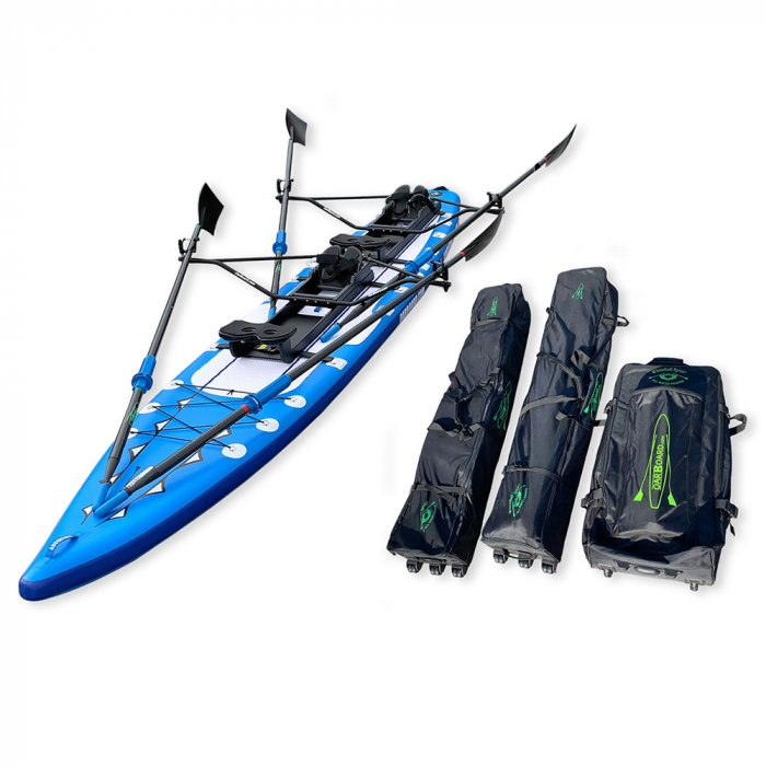 Oar-Board-Adventure-Row-16-Double-Blue-SUP-Rower-Combo-fitness-fun-Whitehall-Rowing-and-Sail