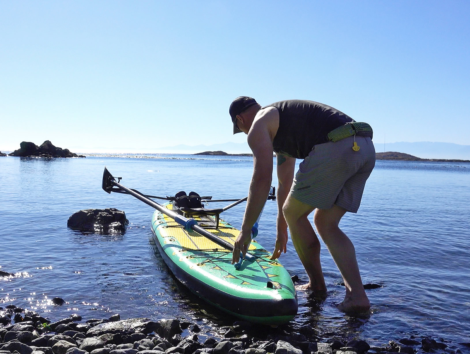 Adam Kreek Fitness, Oar Board® SUP Fit On Top Rower, Stand Up Paddle Board, Inflatable SUP, Oar Board, Whitehall Rowing & Sail