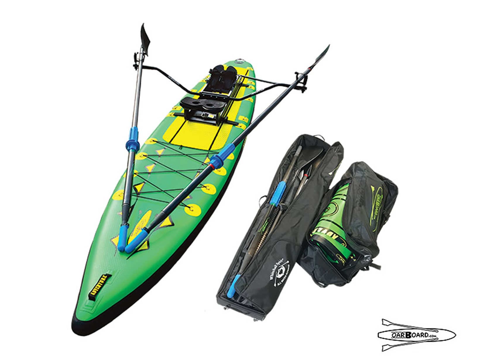 Oar Board® SUP Fit On Top Rower, Stand Up Paddle Board, Inflatable SUP, Oar Board, Whitehall Rowing & Sail