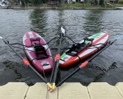 """Meet """"A SUPer WEY To Row"""" (left) and """"WEY Too Much Fun"""" (right), Weybridge Rowing Club"""