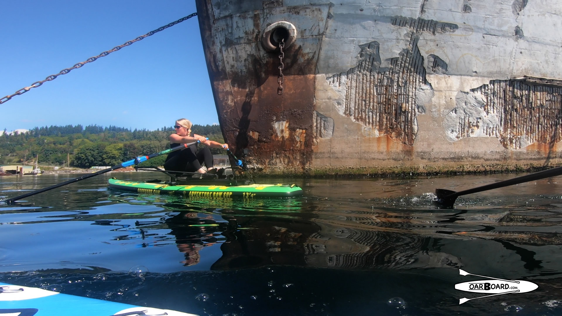 Campbell River Breakwater Rowing, WWII Hulk Ships, Oar Board Stand Up Paddle Boards