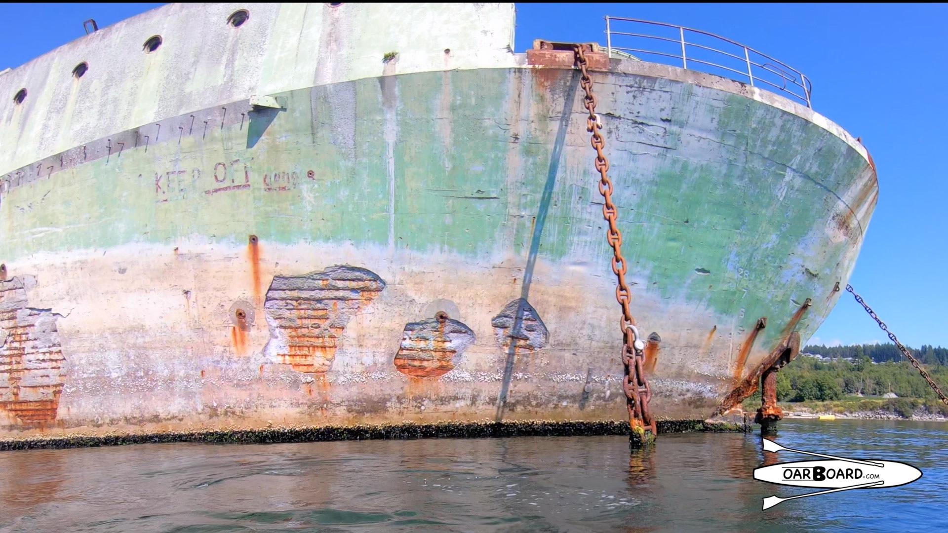 Campbell River Breakwater Rowing, WWII Hulk Ships, Oar Board Stand Up Paddle Boards